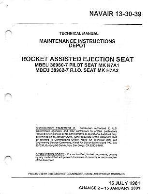Mk H7 Ejection Seat Usn F 4 Phantom Ii Maintenance Insts Flight