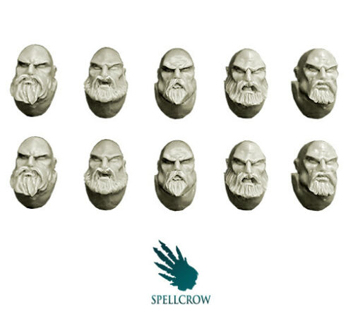 Spellcrow Space Knights Heads with Beards