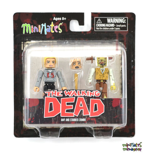 Walking Dead Minimates Series 2 Stabbed Zombie /& Amy Variant