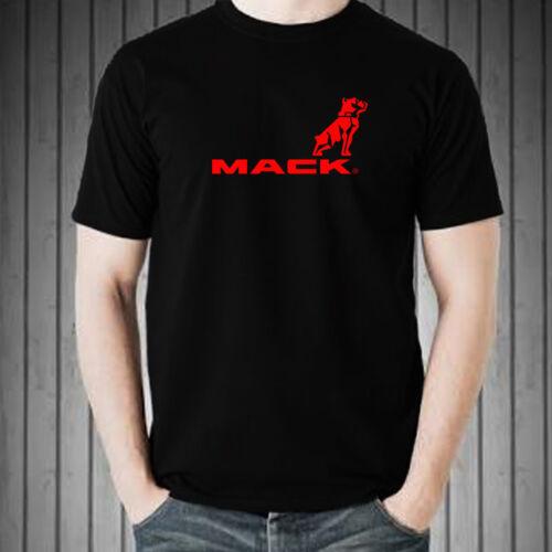 MACK TRUCK LOGO graphic tee men black white t-shirt 100/% cotton short sleeve
