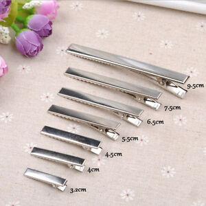 20-PCS-Modish-Flat-Metal-Single-Prong-Alligator-Hair-Clips-Barrette-for-Bows-DIY