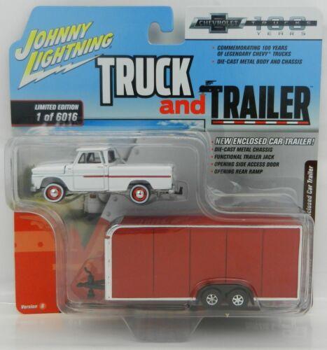 1965 Chevrolet Pickup Enclosed Car Caravane ** RR ** JOHNNY LIGHTNING 1:64 Neuf dans sa boîte