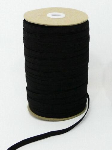 Cordón Elástico Negro Plano 5mm para coser manualidades costura sastrería