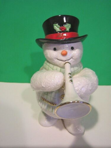 LENOX 2015 annual SNOWMAN JAZZY TRUMPETER sculpture NEW in BOX with COA trumpet