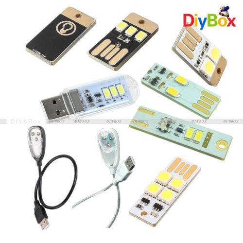 2//3//4 LED Warm White White Black USB Lamp Bulb Mini Night Light Portable Switch