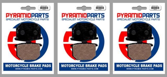 Front & Rear Brake Pads (3 Pairs) for Yamaha XS 850 80-81