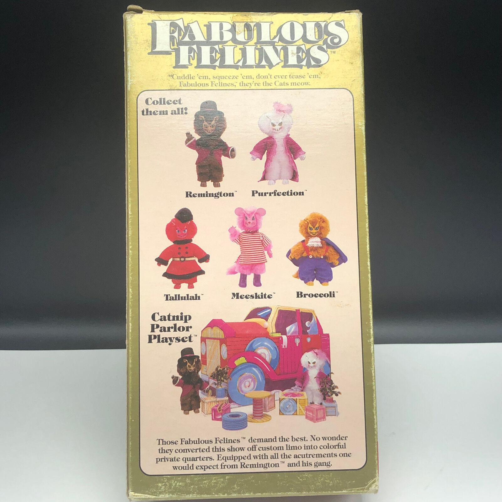 1983 1983 1983 FABULOUS FELINES MEGO ACTION FIGURE Phoenix toys cat plush Broccoli bluee 8bdc36