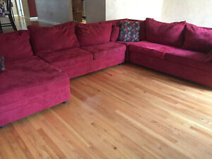 Details About Sectional Sofa Used Red Bob S Furniture
