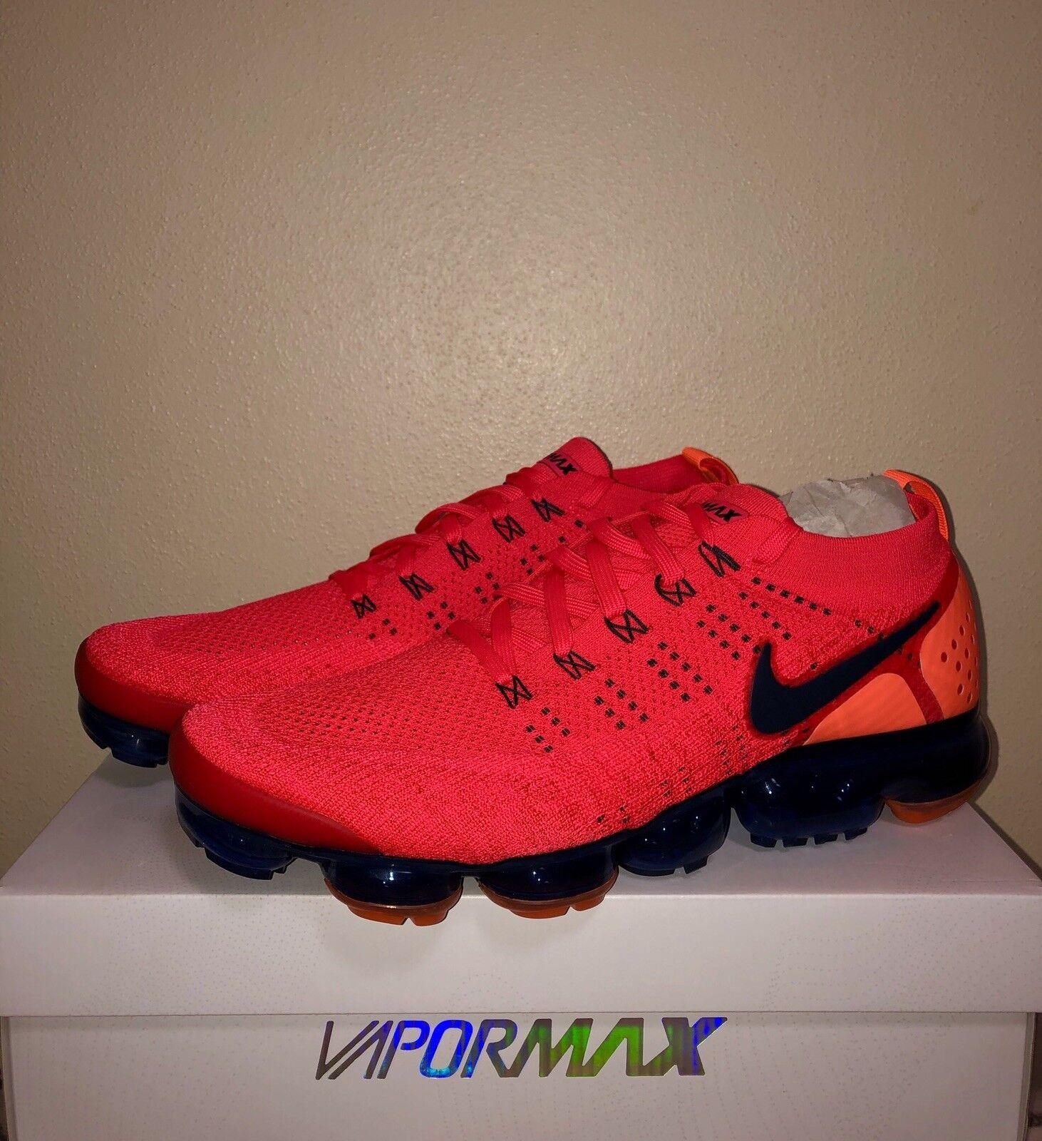2e0059e9c840 Nike Nike Nike Air Vapormax Flyknit 2 Red Orbit Obsidian AR5406 600 Running  Men 14 390894