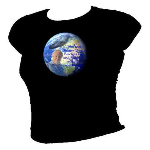 Blue Planet II DAVID ATTENBOROUGH Planet Earth TV Legend ladies T-shirt