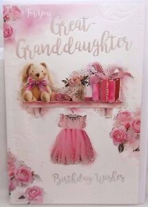 Image Is Loading GREAT GRANDDAUGHTER BIRTHDAY CARD CUTE DESIGN QUALITY