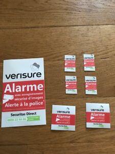 Autocollant Alarme Verisure