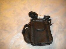 BRANDNew Mens Black Leather Pocket Belt Loops Mini Waist Bag Pouch Wallet Purse