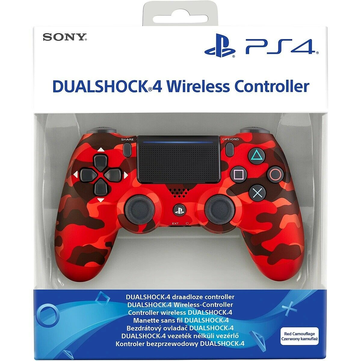 Sony PlayStation Limited Red Camo Camouflage DualShock 4 V2 PS4 UK Controller CE