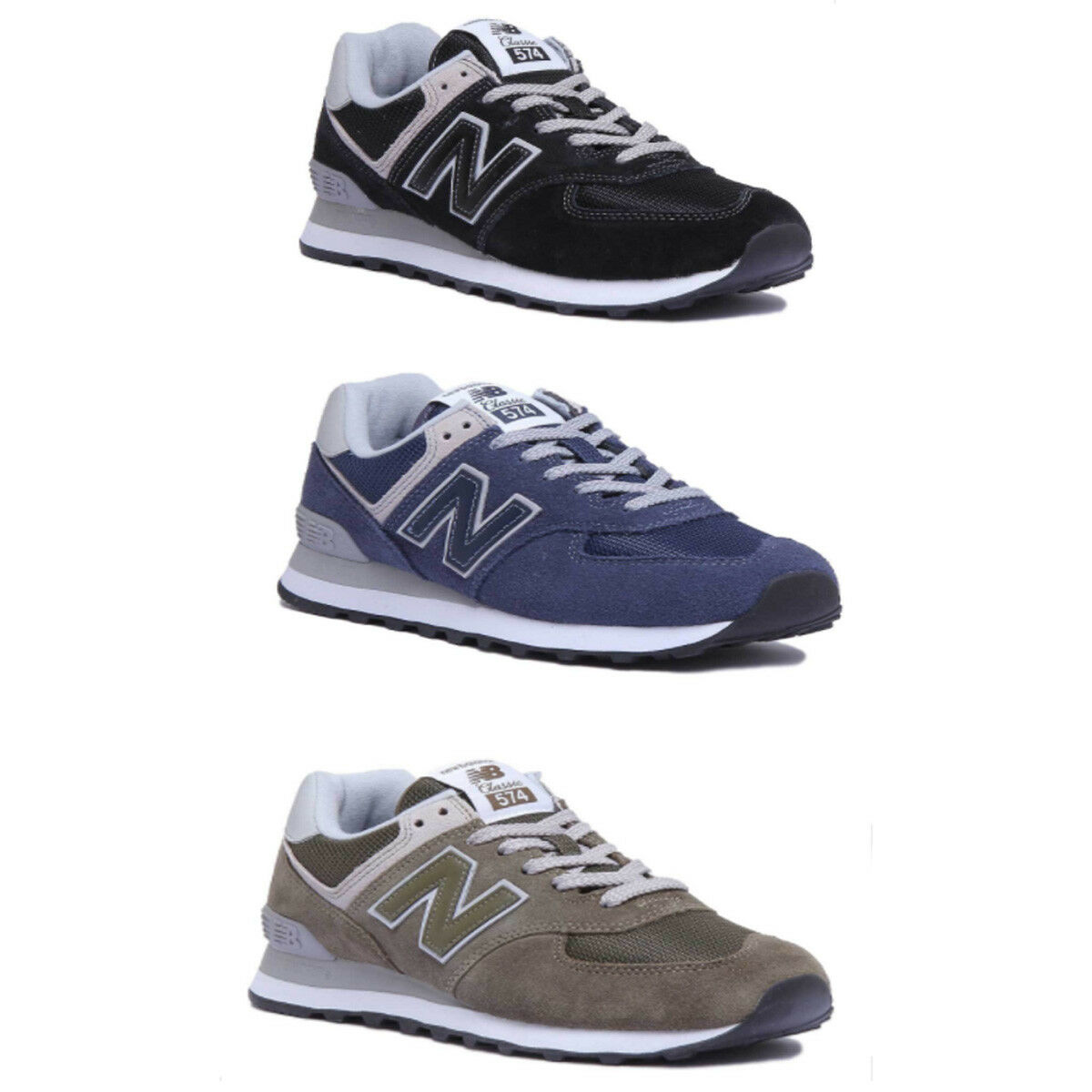 New Balance Ml574Ego Chaussures Femme Olive divers Baskets Taille UK 3 - 8