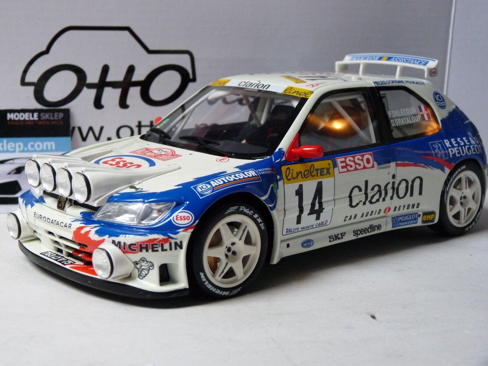 PEUGEOT 306 MAXI OTTO 1 18 scale Rally Monte Carlo DELECOUR RARE NEW 1 18 OT546