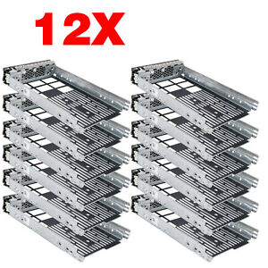 12Pcs-3-5-034-Caddy-SAS-SATA-Tray-For-Dell-Poweredge-R710-T710-R610-T610-w-Screws
