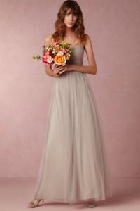 NEW Jenny Yoo  Annabelle  ConGrünible Tulle Column Dress, Mink grau Größe 6 Maxi