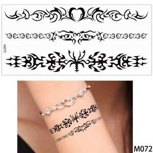 Tatouage Temporaire Ephemere 9x19cm Bracelets Tribal Homme Femme M072 Ebay