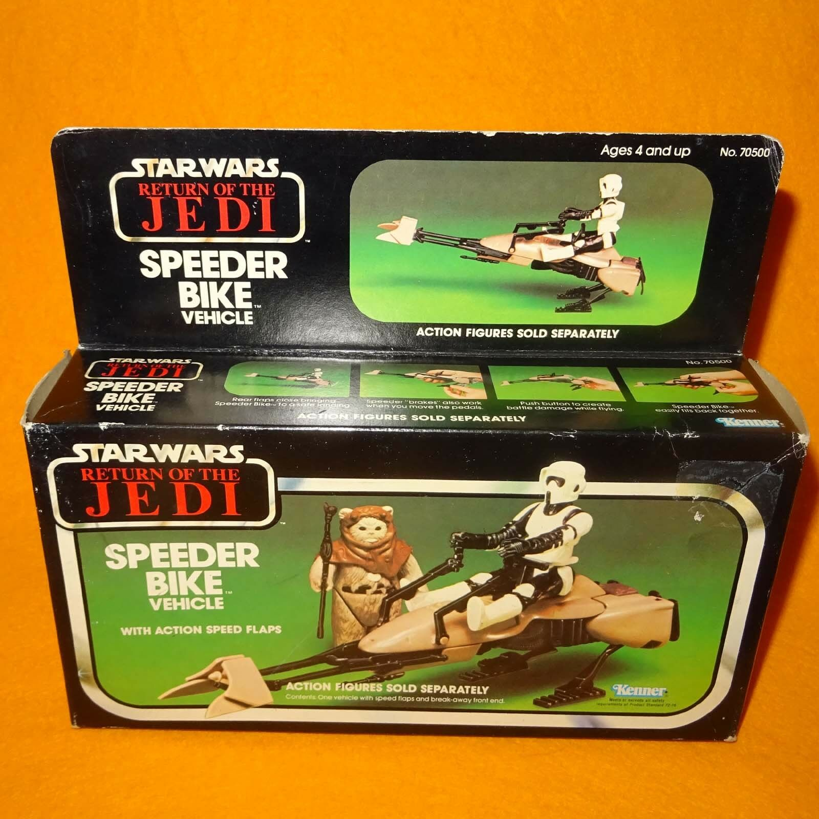 VINTAGE 1983 KENNER STAR WARS RETURN OF THE JEDI SPEEDER BIKE VEHICLE BOXED MISB