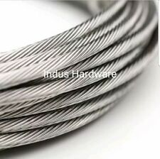 Stainless Steel T316l Cable Railing 18 1x19 7x19 Commercial Grade New Stock