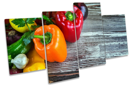 Fresh Vegetables Kitchen Picture MULTI CANVAS WALL ART Print