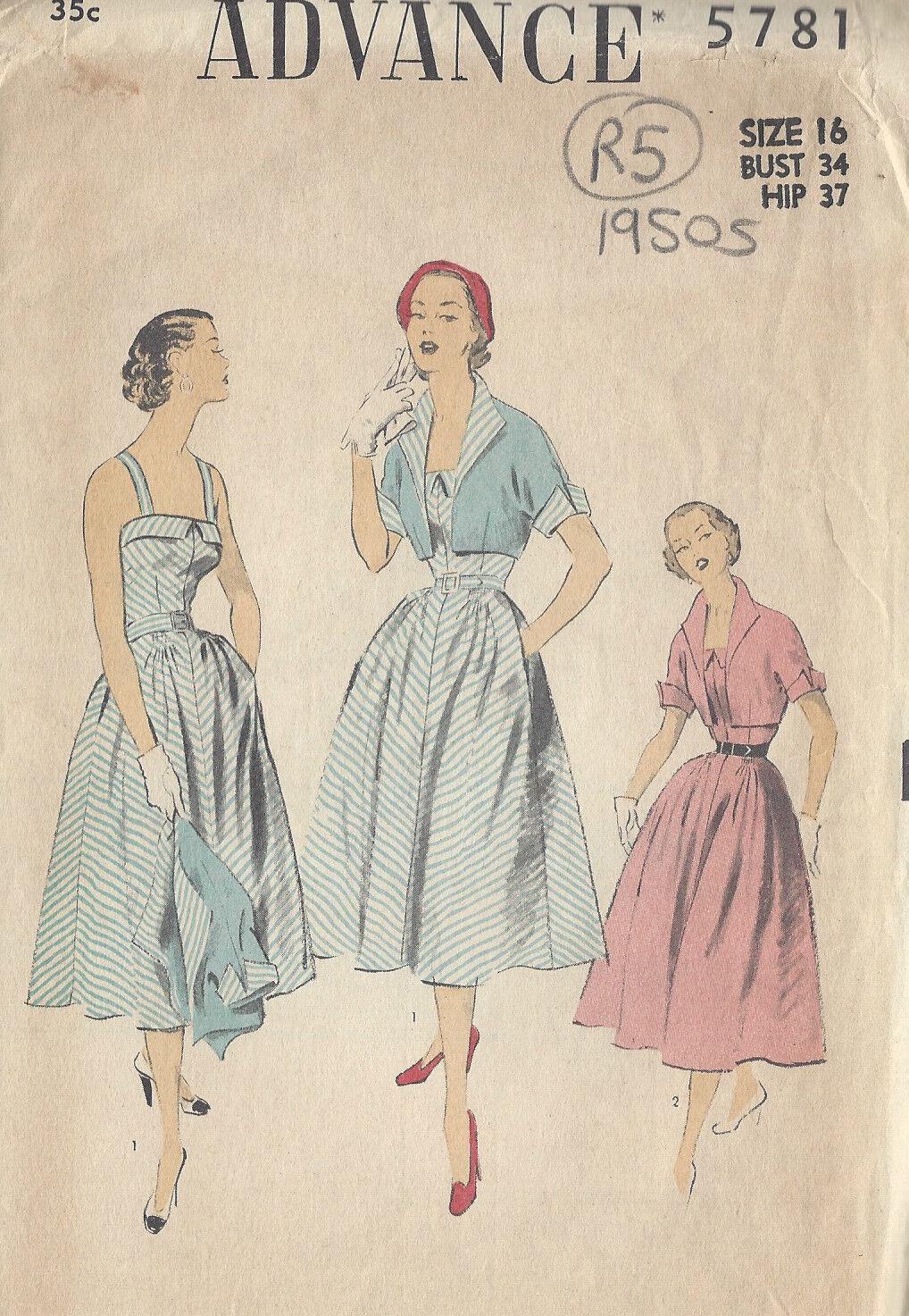 Schnittmuster 1950 Vintage B34\