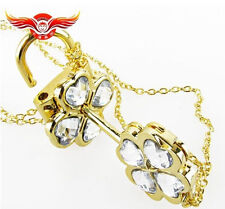 Cosplay !Shugo Chara ! Hinamori Amu open Key & lock couples Necklace White