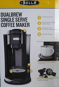 BELLA DUALBREW SINGLE SERVE COFFEE MAKER 829486143861 eBay