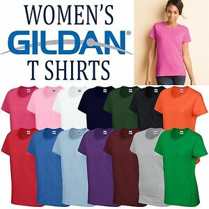 70306b9c26d1d0 Gildan Heavy Cotton Ladies T Shirt Top Womens Girls Plain All Sizes ...