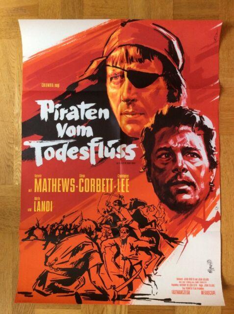 Piraten vom Todesfluss (Plakat ´62) - Kerwin Mathews / Christopher Lee / Hammer