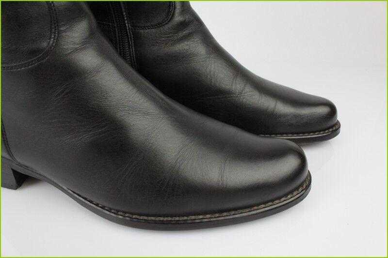 Bottes à Lacets PACO VALIENTE Cuir Noir T 37 TBE