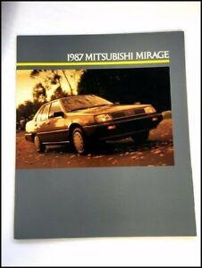 1987 Mitsubishi Mirage 20-page Original Car Sales Brochure Catalog