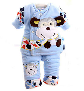 Winter baby outerwear long Pants set suit boys girls clothing Deer Baby YF267