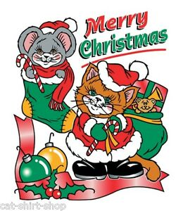 Merry-Christmas-Shirt-Cat-amp-Mouse-with-Candy-Canes-gifts-stockings-Sm-5X