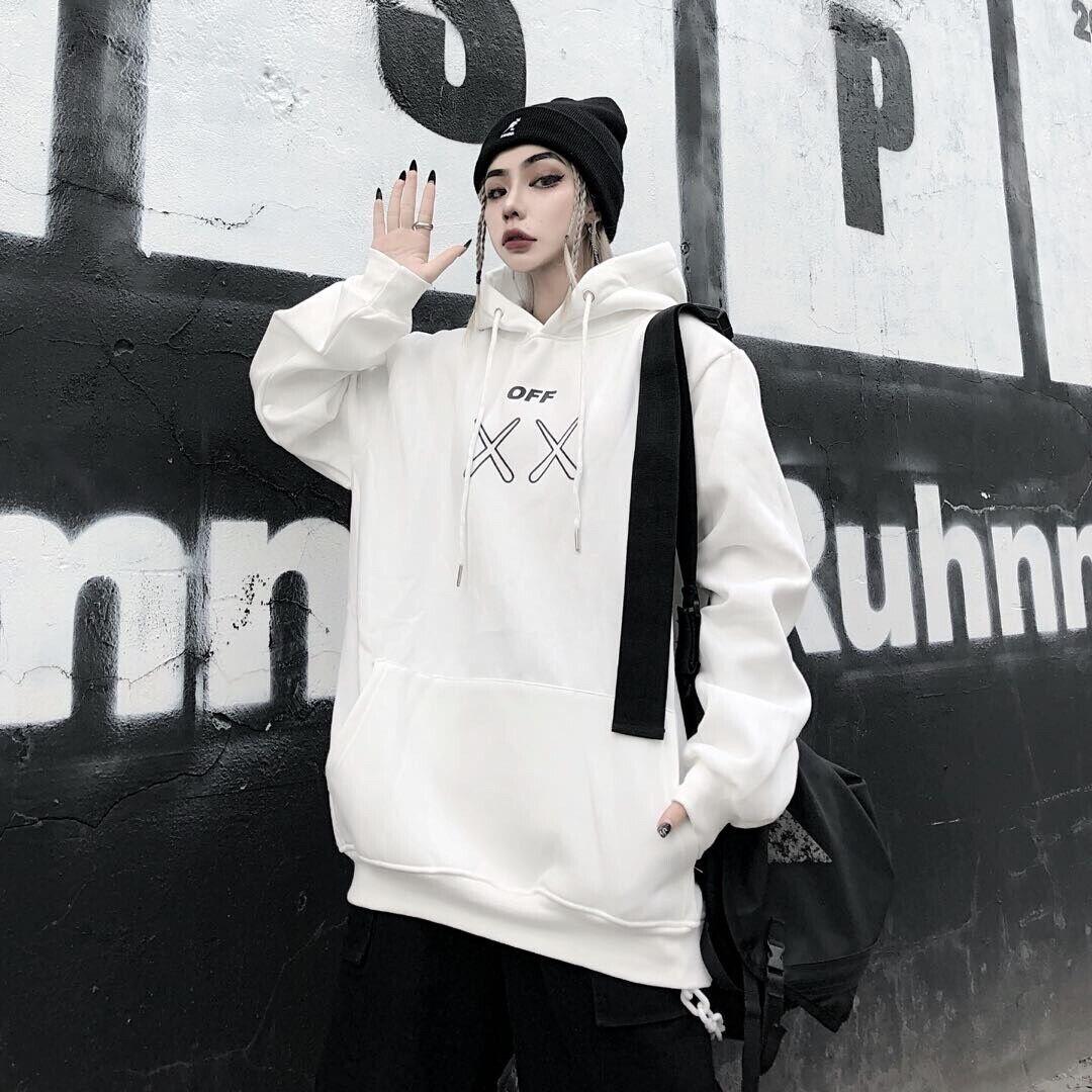 OFF WHITE Herren und Damen Kapuzenpullover Paar Hoodie Jacke Trend Locker lässig