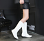 Womens-Patent-Leather-Knee-High-Boots-Med-Heel-Shoes-Knight-Size-35-39-N035-New thumbnail 10