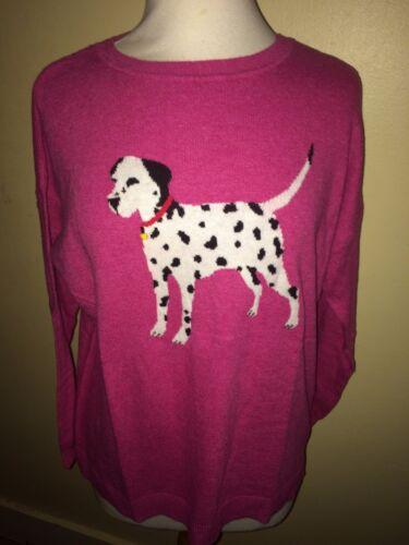 JOULES Meryl Dalmatian Cotton Jumper Sz 10 16 18 RP£69.95 FreeUKP/&P