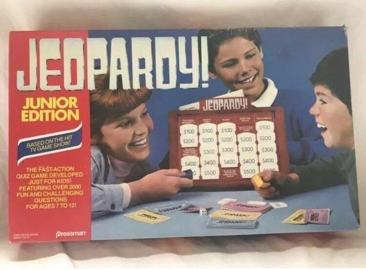 Super Rare 1988 Jeopardy Junior edizione tavola  gioco by Pressuomo JR  migliori prezzi e stili più freschi