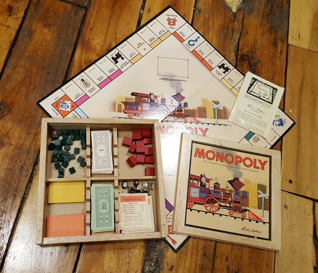Monopoly (Board Game, Nostalgia Game Series) wood wooden box classic RARE