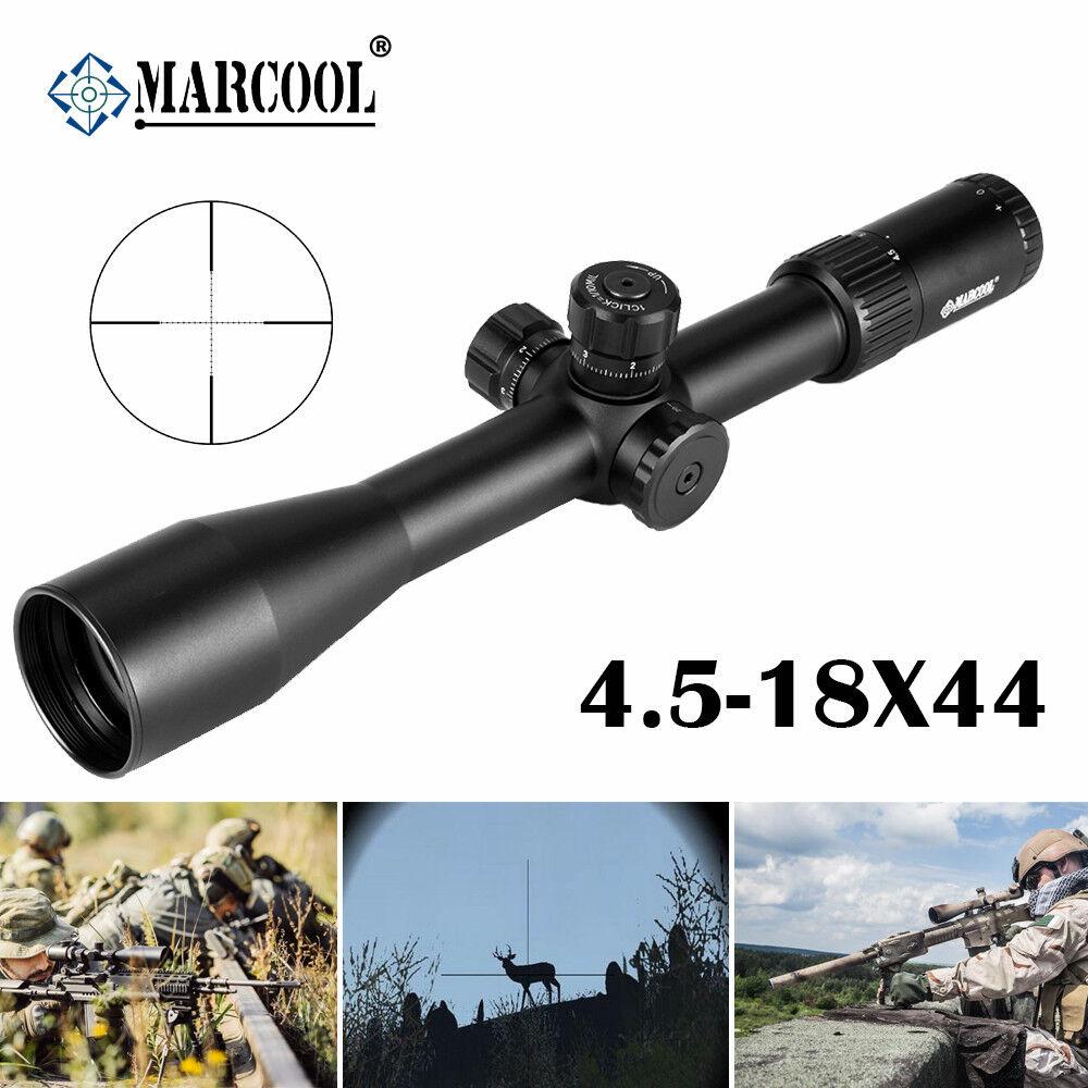 MARCOOL Optical suspiro 4.5-18X44 rifl lado ALT enfoque Airsoft Rifle Scope de Caza