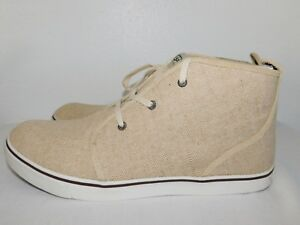 aaf37393d54 Details about NEW NWOB MENS SIZE 14 SAND UGG BROCKMAN CANVAS HIGH TOP  SNEAKER CHUKKA BOOTS