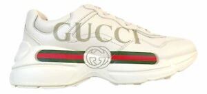 464714117 GUCCI men's leather sneakers with oversized Rhyton sneaker with ...