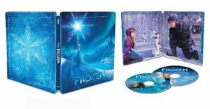 FROZEN-U-S-EXCLUSIVE-STEELBOOK-4K-Ultra-HD-Blu-ray-Digital-DISNEY-NEW