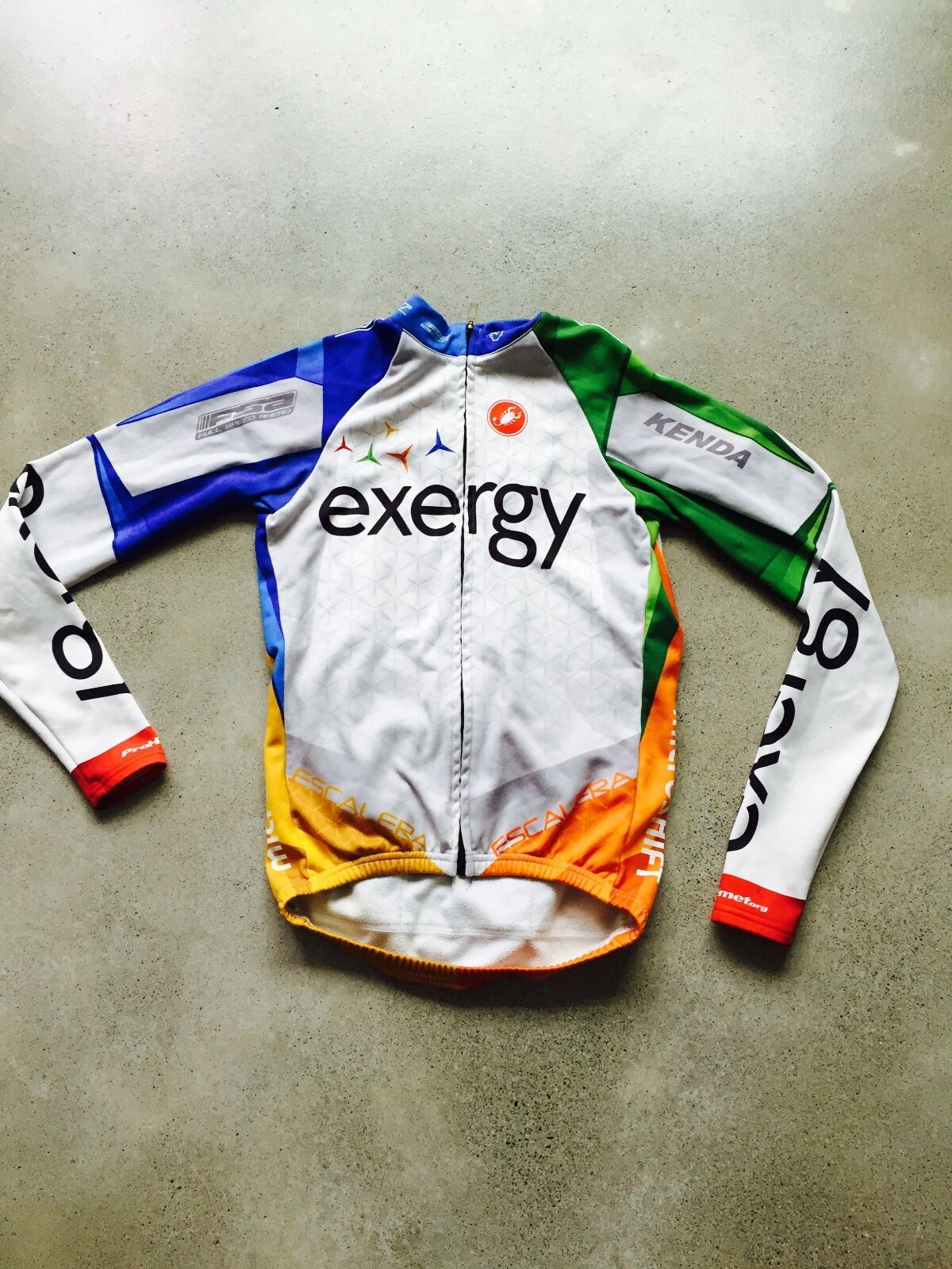 Team Exergy Pro Cycling Long Team Long Cycling Sleeve Jersey by Castelli Small 81720e