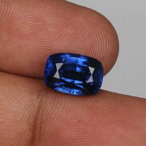 Natural-Kashmir-Royal-Blue-Sapphire-11-40-Ct-Perfect-Cushion-Cut-Loose-Gemstone