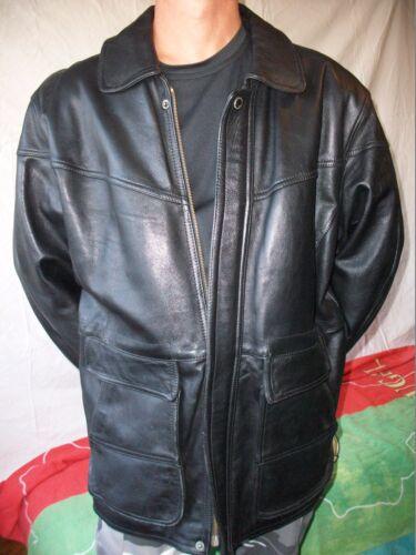 Jacket xl T leather Comme Neuve Vintage Creation Cuir Nicotine Veste RwAqtSBYR
