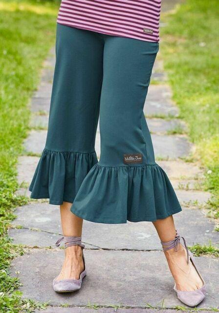 Matilda Jane Womens Alpha Big Ruffles Pants Size XL X Large Cropped New In Bag