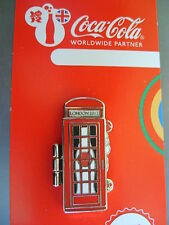 COCA COLA PIN BADGE - LONDON 2012 - TELEPHONE BOX - JAPAN - MOC