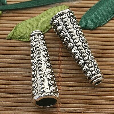6pcs dark silver tone Punctate Cone spacer beads h3821